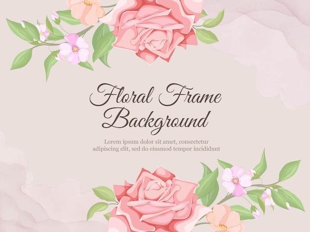 Schöne hochzeitsfahnen-hintergrund-flora-vektor-vorlage