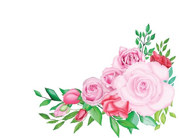 Schöne hochzeitskarte mit aquarell