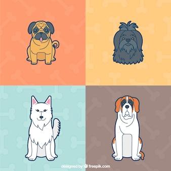 Schöne hunde-illustration