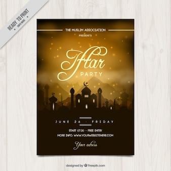 Schöne iftar-partyeinladung
