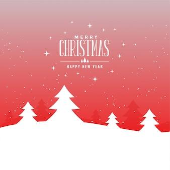 Schöne illustration der frohen weihnachten mit bäumen