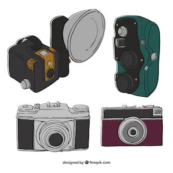 Schöne illustrationen von vintage-kameras
