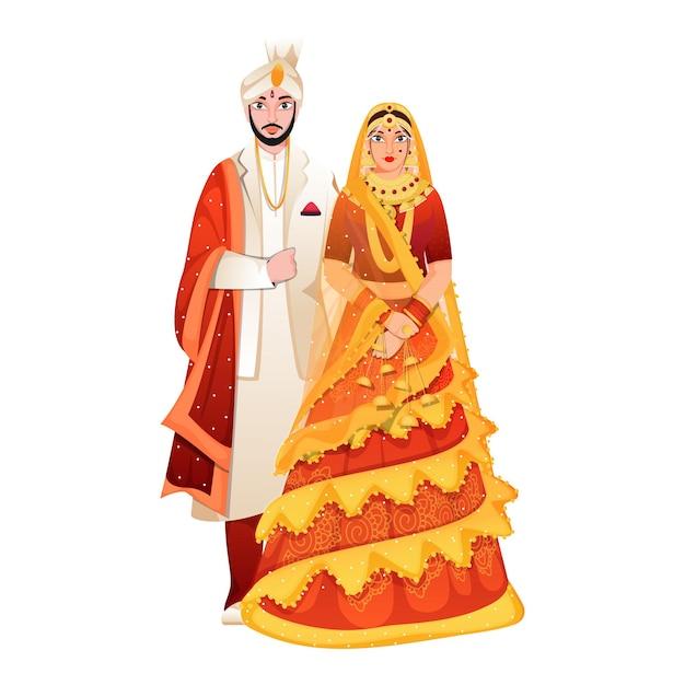Schöne indische braut und ihr bräutigam