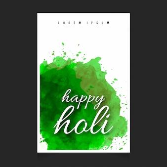Schöne indische fest glückliche holi feiern hintergrund für poster plakat-banner karte