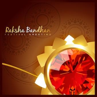 Schöne indische hindu festival von rakshabandhan