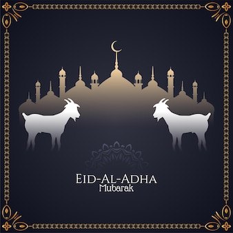 Schöne islamische eid-al-adha mubarak-grußkarte