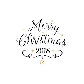 Schöne kalligraphie der frohen weihnachten