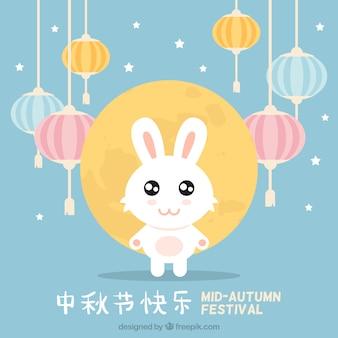 Schöne kaninchen für mid-autumn festival