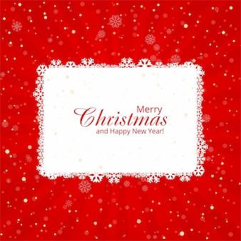 Schöne karte der frohen weihnachten mit rotem hintergrund