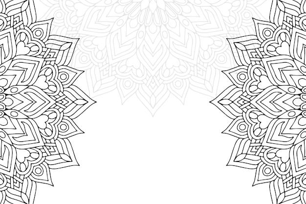 Schöne karte der verzierung mit mandala