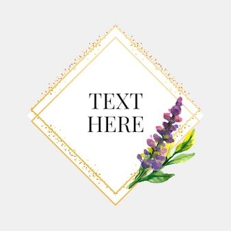 Schöne karte mit aquarellblumenstrauß