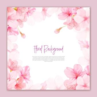 Schöne kirschblüte blüht hintergrund