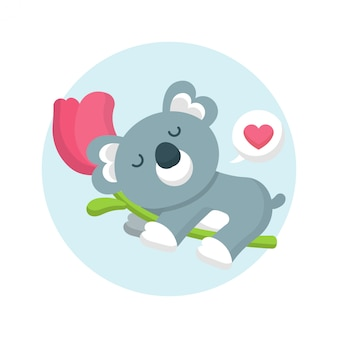 Schöne koala-illustration
