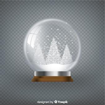 Schöne kristallweihnachtskugel