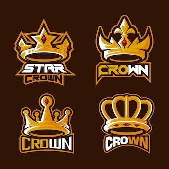 Schöne krone esport logo illustration
