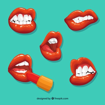 Schöne lippen eingestellt