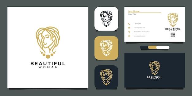 Schöne logo-design-vorlage und visitenkarte