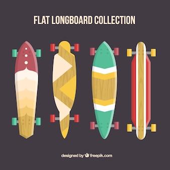 Schöne longboard-set