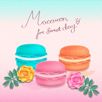 Schöne macaron farben der süßen tage