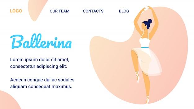 Schöne mädchen-ballerina in den weißen spitzenschuhen