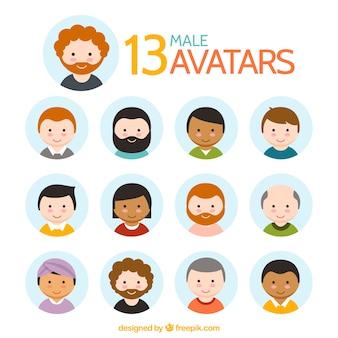 Schöne männliche avatar sammlung