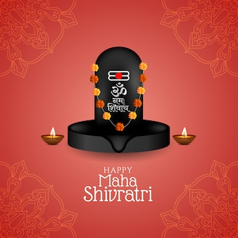 Schöne maha shivratri festivalgrußkarte