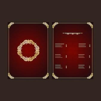 Schöne mandala design dekoriert restaurant menükarte oder preis karte design