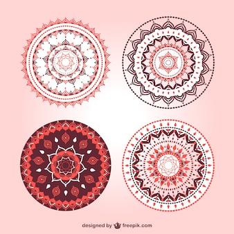 Schöne mandala ornamente gesetzt