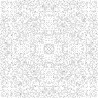 Schöne monochrome lineare illustration für erwachsenenmalbuch mit abstraktem quadratischem weinlesemuster