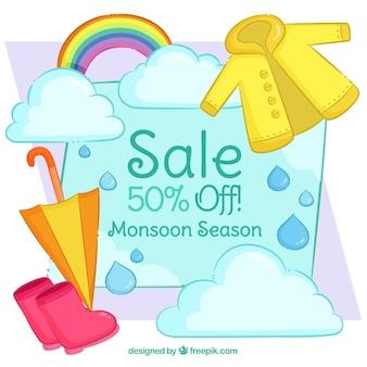 Schöne monsun saison verkauf zusammensetzung