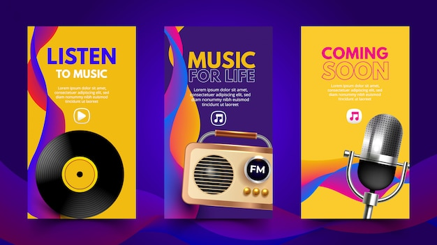 Schöne musikalische vorlage für soziale netzwerke