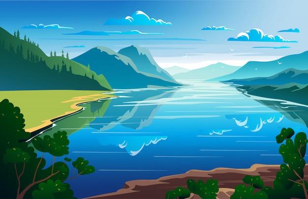 Schöne naturlandschaft
