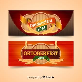 Schöne oktoberfest-banner