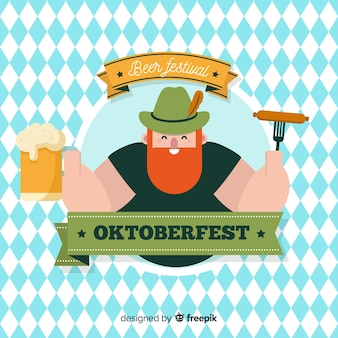 Schöne oktoberfest komposition mit flachem design
