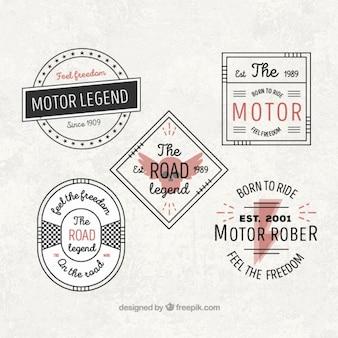 Schöne oldtimer motorrad-abzeichen