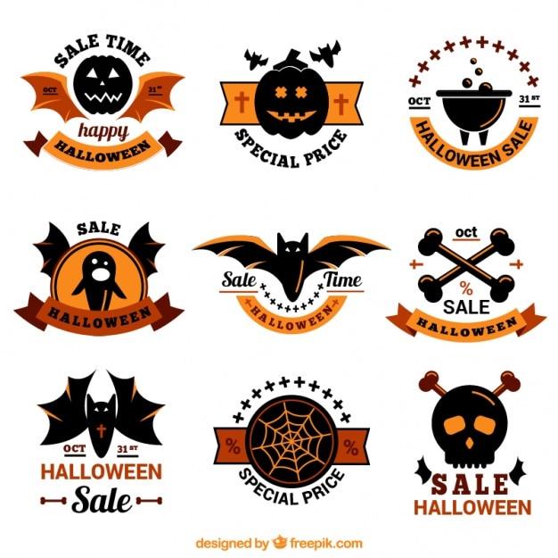 Schöne packung halloween-aufkleber mit speziellen angeboten