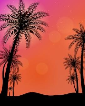 Schöne palmen-illustration