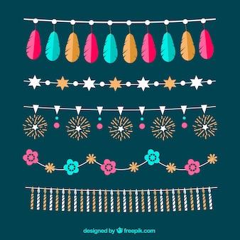 Schöne party ornamenten