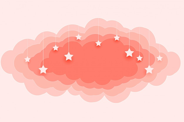 Schöne pastellfarbene wolken und sternenhintergrund