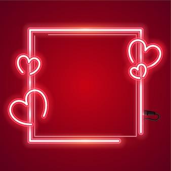 Schöne quadratische neon-banner