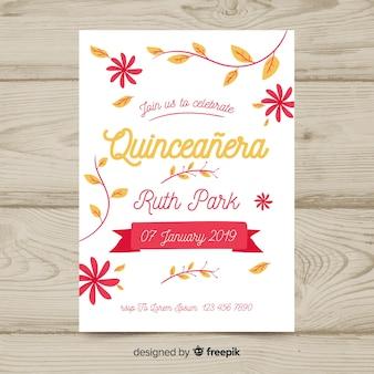 Schöne quinceañera einladungskarte