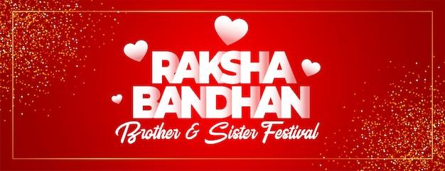 Schöne raksha bandhan indischen festival banner