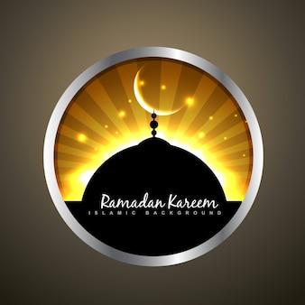 Schöne ramadan kareem etikett vektor