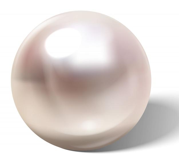 Schöne realistische perle.