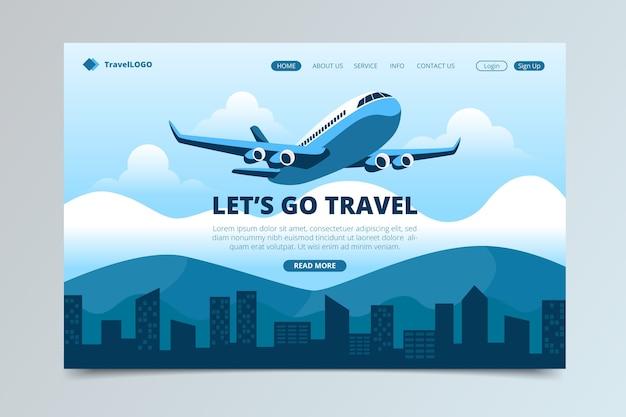 Schöne reise-landingpage