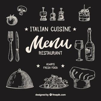 Schöne restaurantkomposition