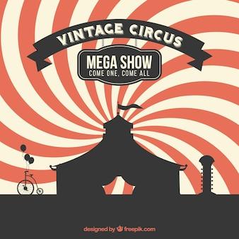 Schöne retro-zirkus hintergrund