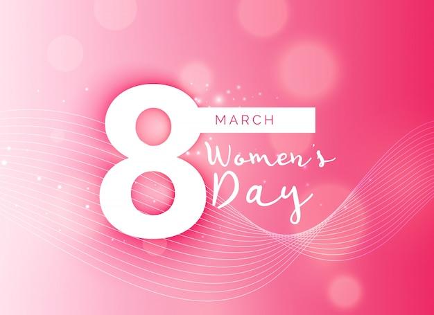 Schöne rosa internationalen womans tag design-hintergrund