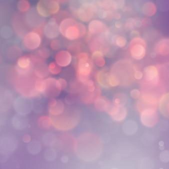 Schöne rosa und orange magische glitzerlichter bokeh hintergrund