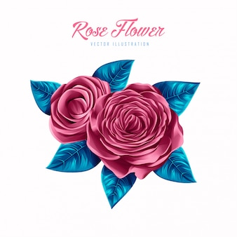 Schöne rosen-blumen-vektor-illustration